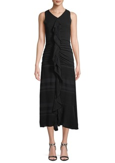 Proenza Schouler Ruffled Sheath Dress