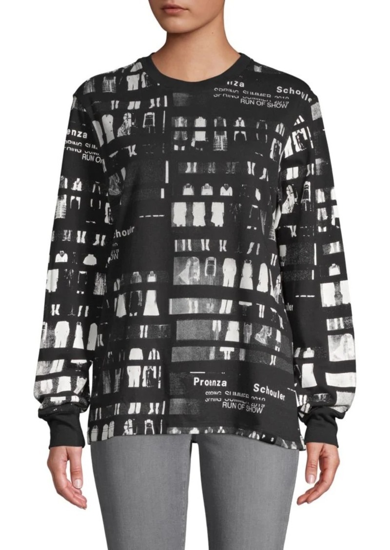 Proenza Schouler Run Of Show Print Top