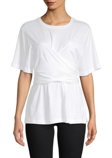 Proenza Schouler Self-Tie Cotton Top