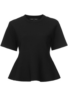 Proenza Schouler Short Sleeve Flare Knit Top