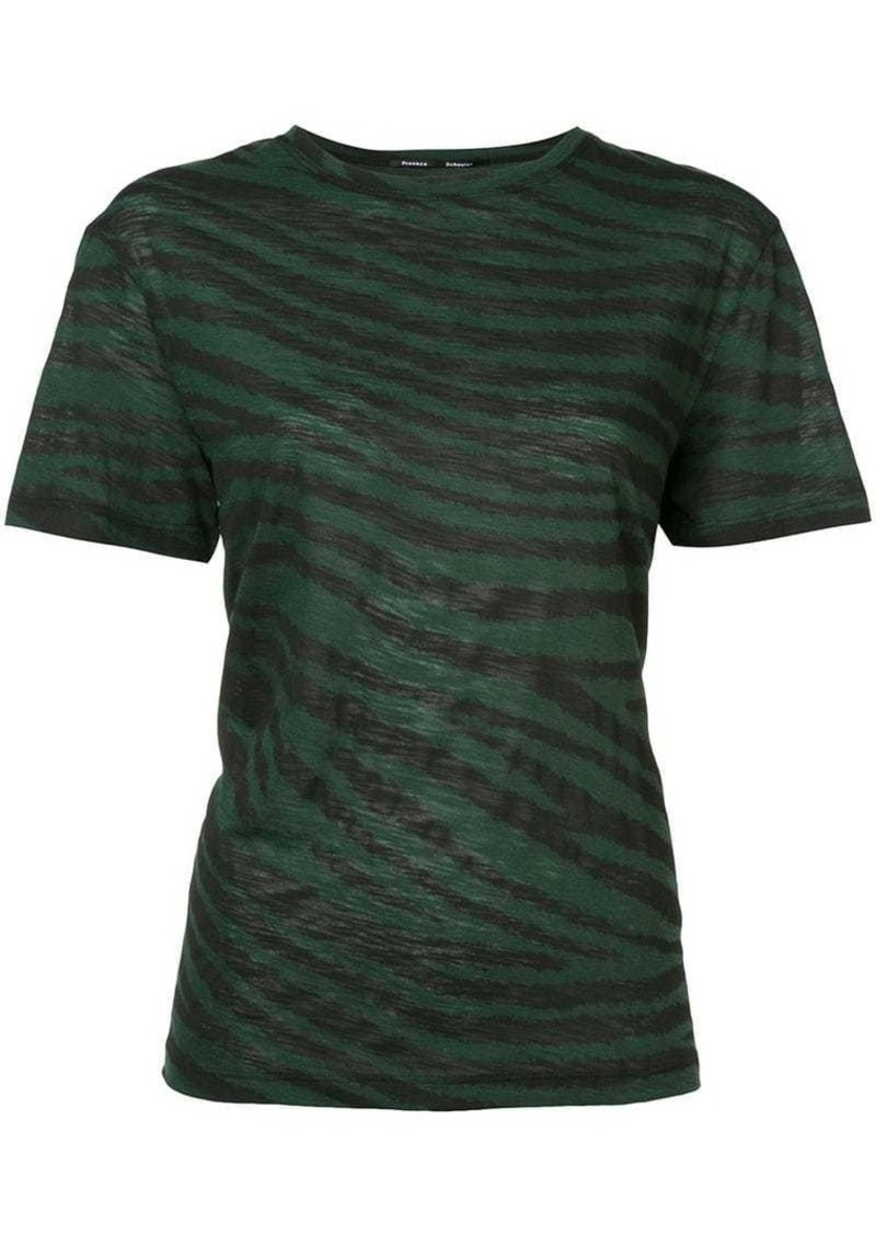 Proenza Schouler Tiger Print Short Sleeve T-Shirt