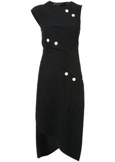 Proenza Schouler Short Spiral Dress with Button Detail