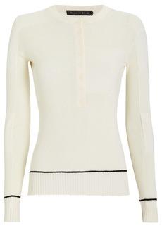 Proenza Schouler Silk & Cashmere Knit Henley Top