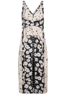 Proenza Schouler Silk floral dress with hook and eye fasteners