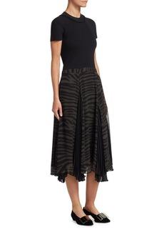 Proenza Schouler Silk Printed Chiffon Dress