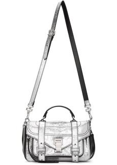 Proenza Schouler Silver Tiny Zip PS1 Messenger Bag