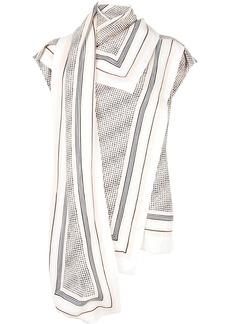 Proenza Schouler border print scarf top