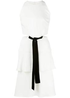 Proenza Schouler Sleeveless Cut Out Velvet Bow Dress