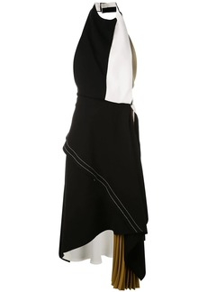 Proenza Schouler Sleeveless Layered Draped Colorblock Dress