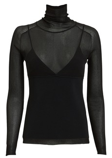 Proenza Schouler Slim Layered Turtleneck Top