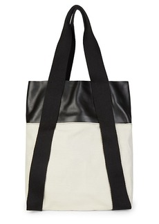 Proenza Schouler Small Leather & Canvas Convertible Backpack