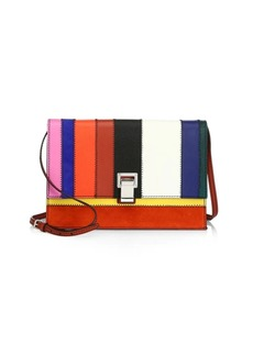 Proenza Schouler Small Leather Colorblock Shoulder Bag