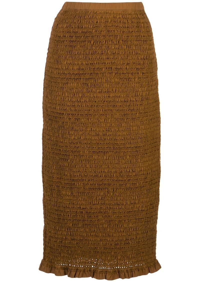 Proenza Schouler smocked skirt