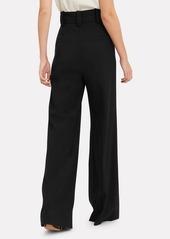 Proenza Schouler Snap Button Detail Wool Trousers