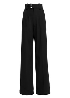 Proenza Schouler Snap Button Detail Wool Trousers
