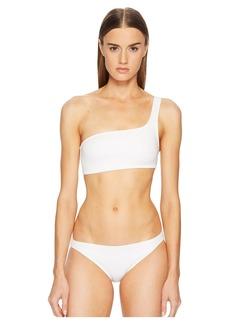 Proenza Schouler Solids Two-Piece Bikini Set w/ One-Shoulder Bikini Top & Classic Bottom
