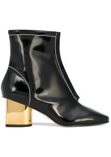 Proenza Schouler Square Toe Block Heel Boots