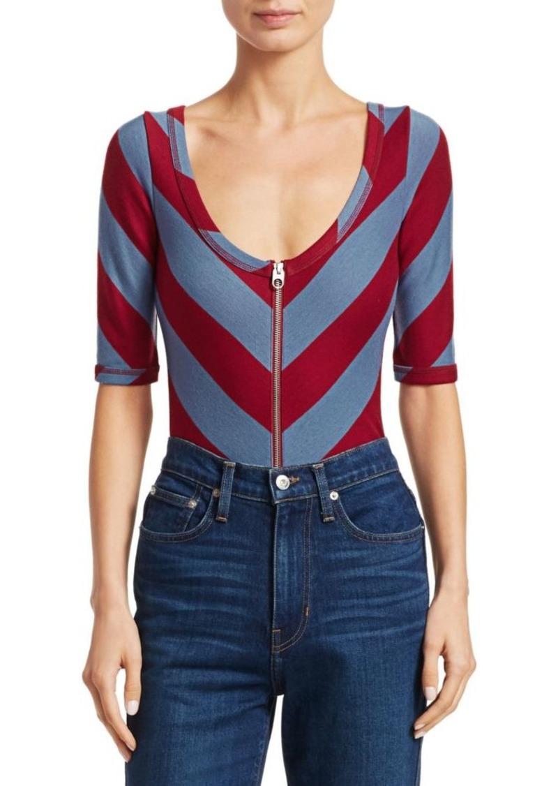 Proenza Schouler Stripe Jersey Bodysuit