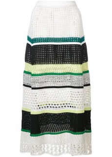 Proenza Schouler Striped Knit Skirt