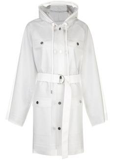 Proenza Schouler striped pattern belt raincoat