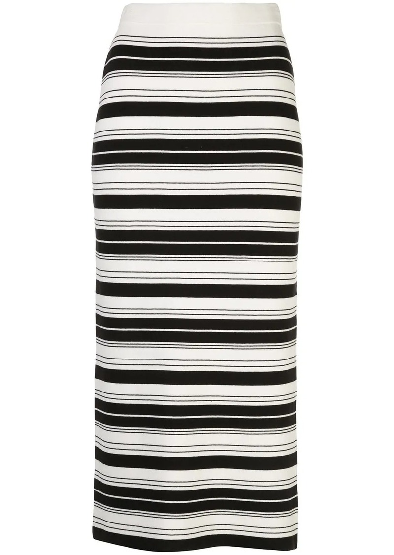 Proenza Schouler striped pencil skirt