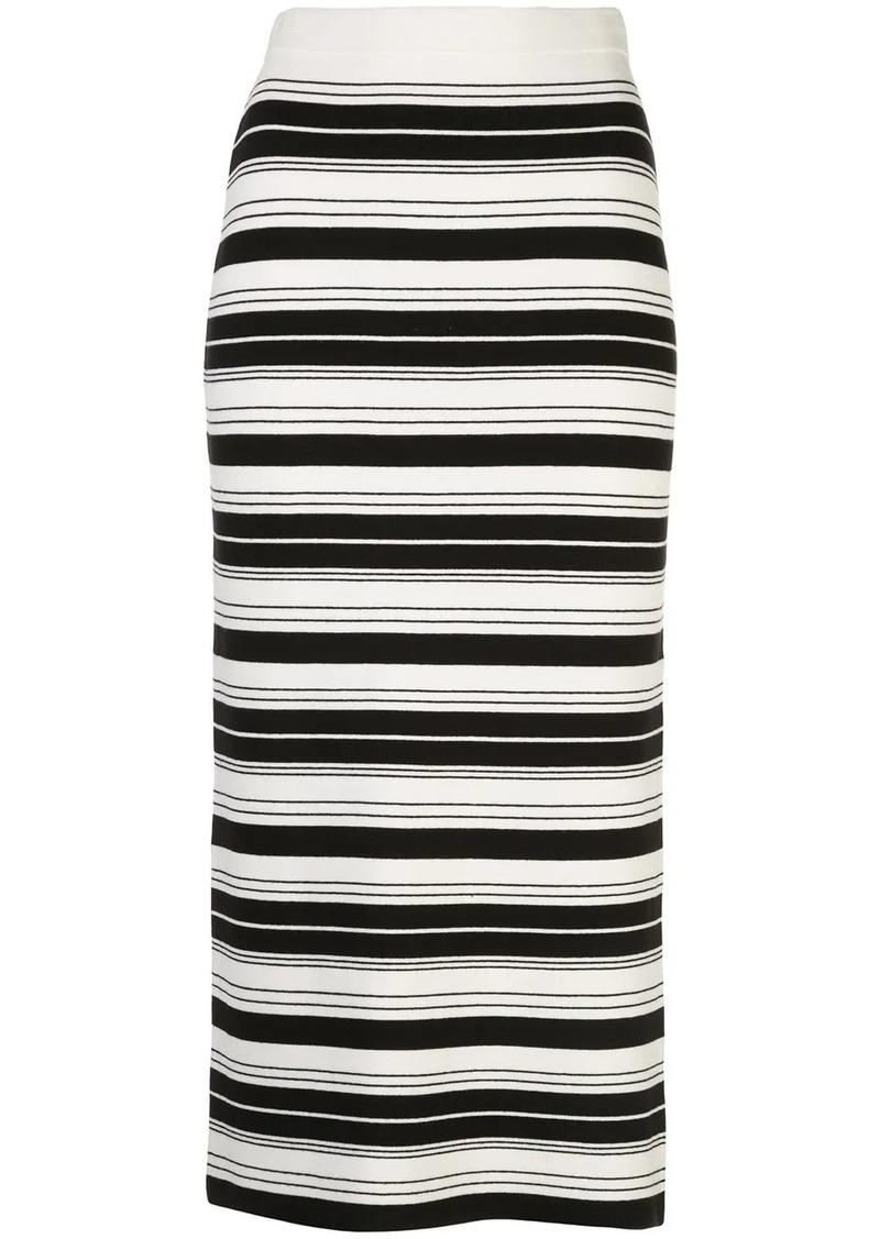 Proenza Schouler striped pencil skirt