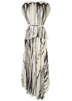 Proenza Schouler striped pleated wrap dress