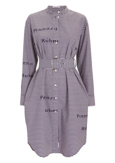 Proenza Schouler Striped Poplin Logo Shirtdress