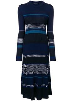 Proenza Schouler striped rib knit maxi dress