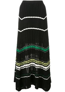 Proenza Schouler Striped Rib Knit Skirt
