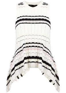 Proenza Schouler Striped Rib Knit Top