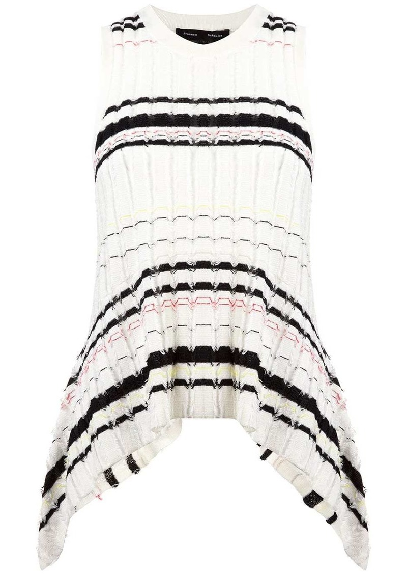 Proenza Schouler Striped Rib Knit Top