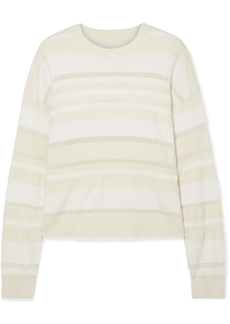 Proenza Schouler Striped Ribbed-knit Sweater