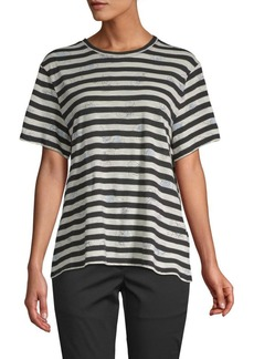Proenza Schouler Striped Short-Sleeve Cotton Tee