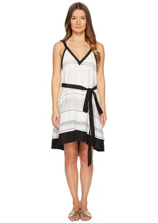 Proenza Schouler Striped Thin Belted Cover-Up Sundress