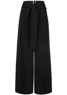 Proenza Schouler Texture Crepe Belted Pants
