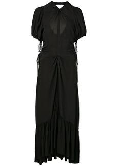 Proenza Schouler Textured Crepe Cinched Dress