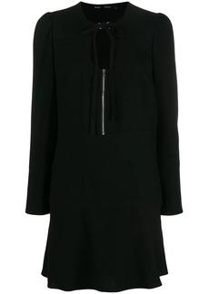 Proenza Schouler Textured Crepe Long Sleeve Dress