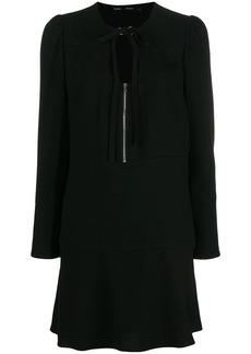Proenza Schouler Textured Crepe U-Neck Dress