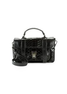 Proenza Schouler Textured Leather Shoulder Bag
