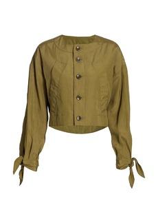 Proenza Schouler Textured Parachute Cropped Jacket