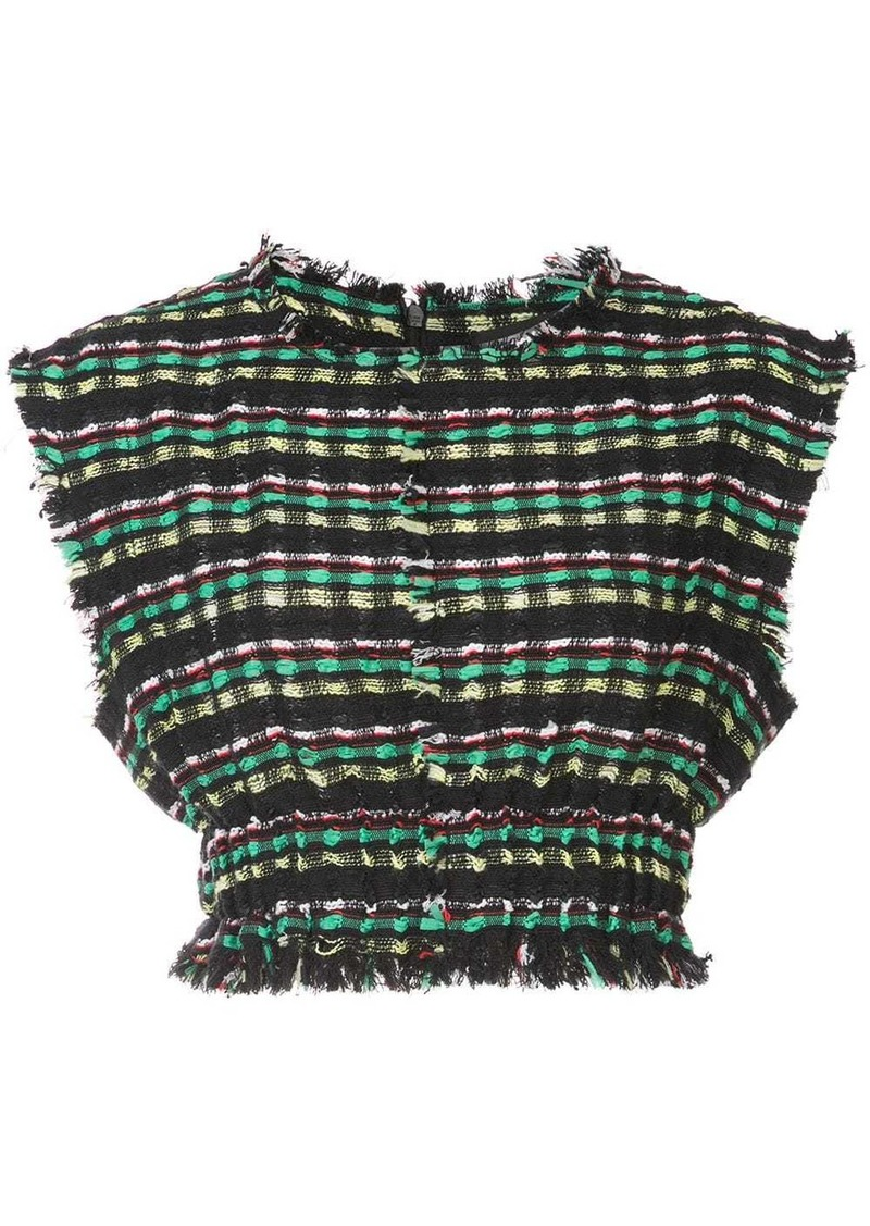 Proenza Schouler Textured Tweed Crop Top