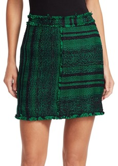 Proenza Schouler Textured Tweed Mini Skirt