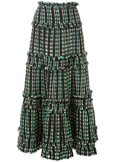 Proenza Schouler Textured Tweed Tiered Skirt