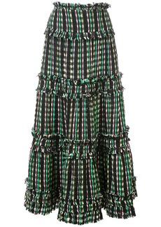 Proenza Schouler Textured Tweed Tiered Skirt