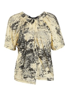 Proenza Schouler Tie-Back Printed T-Shirt