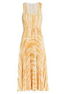 Proenza Schouler Tie-Dye Pleated Midi Dress