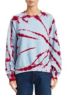 Proenza Schouler Tie-Dye Shrunken Cotton Sweatshirt