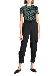 Proenza Schouler Tie-Dye Stretch Jersey T-Shirt