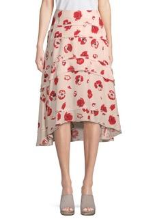 Proenza Schouler Tiered Floral Midi Skirt